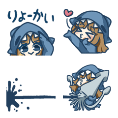 サメ娘【絵文字】③