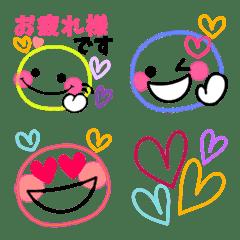 使える♡シンプルカラフル敬語絵文字