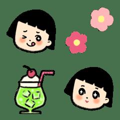 おかっぱの小さな女の子の絵文字