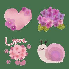 ♡紫陽花の毎日絵文字♡