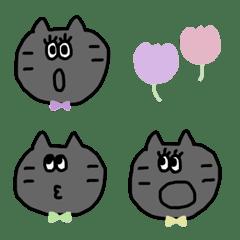 ◇リボンをつけたグレーの猫さん◇