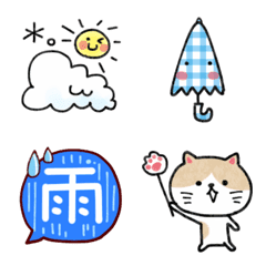 お天気絵文字(雨・晴れ・防災)