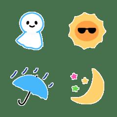 天気のぷち絵文字