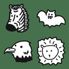 シンプル白黒動物 1