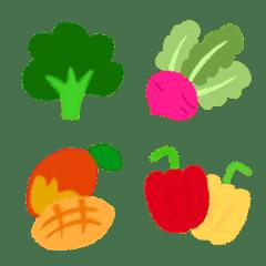 野菜と果物のクレヨン絵文字