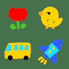 保育園児のクレヨン絵文字