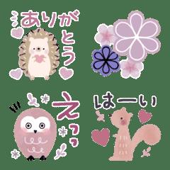 ♡北欧♡動物とお花の毎日絵文字♡
