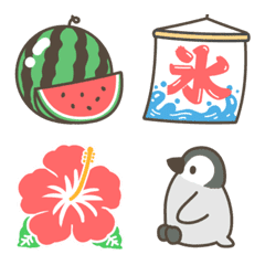 シンプルな夏の絵文字