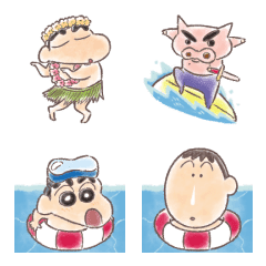 クレヨンしんちゃん 夏絵文字