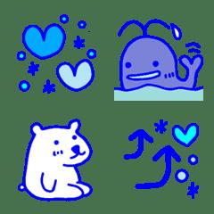マリンカラー(ブルー系)シンプル絵文字