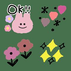 シンプルにウサギ④絵文字【大人かわいい】
