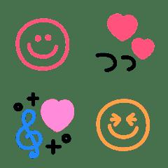 ハートいっぱい♡可愛いシンプル顔絵文字