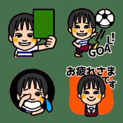 サッカー少年(きずな)
