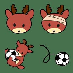鹿とサッカー