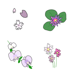 【ずっと使える】花咲き誇るゆる絵文字