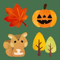 動物たちのかわいい秋絵文字