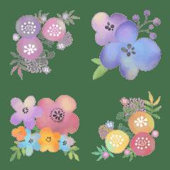秋色ボタニカル♡大人可愛いお花の絵文字