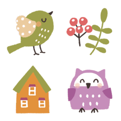 ✳︎北欧✳︎小鳥の毎日絵文字✳︎