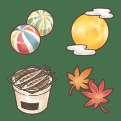 日本の秋⭐︎ほんわか絵文字