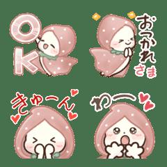 双子にゃんこ♡いちご頭巾♡絵文字