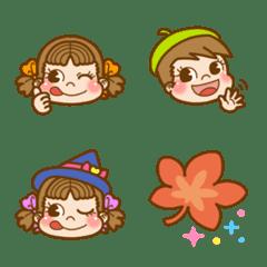 ペコちゃん♪秋の絵文字