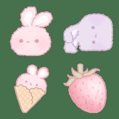 いちごうさぎ玉とラベンダーうさぎ玉