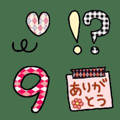 マスキングテープ風☆柄絵文字