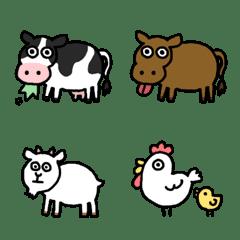 牧場の動物たち
