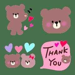 可愛いクマの絵文字