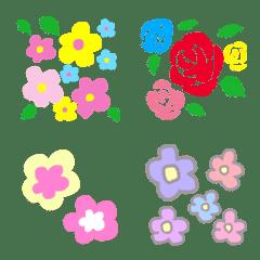 カラフルな花柄の絵文字