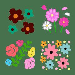 カラフルな花柄の絵文字2