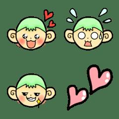 お猿さんの使いやすい絵文字♪