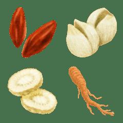 漢方食材の絵文字