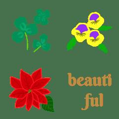 カラフルな花の絵文字3