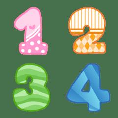 Emoji number sweetie cute