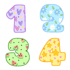 Emoji fruity number cute