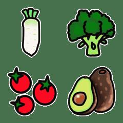 八百屋さんの野菜・果物絵文字(定番編)