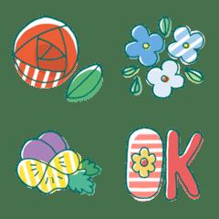 【花いっぱい】くろちの絵文字02
