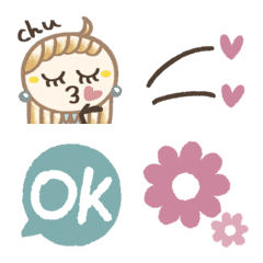 大人フェミニン♡絵文字