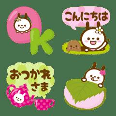 うさぎパンダ★定番&敬語★絵文字【春】