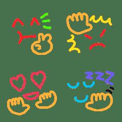 カラフルな顔絵文字