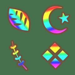 パステルレインボー虹色フレーム絵文字
