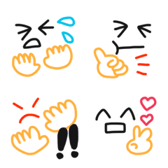 カラフルな顔絵文字2