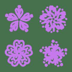 ラインフラワーシリーズ˙紫の