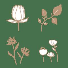 北欧風♡大人のナチュラルお花の絵文字