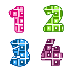 Classic number colorful table emoji