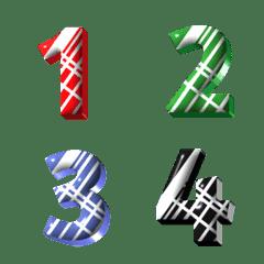 Classic number minimal emoji