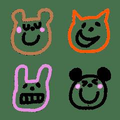 動物クレヨン絵文字