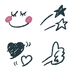 Black and red emoji 2