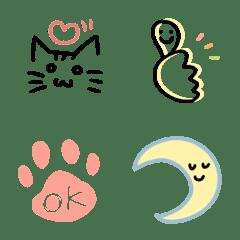 シンプル絵文字(猫とともに)